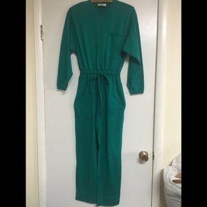 Kelly Green Dreams, vintage jumpsuit